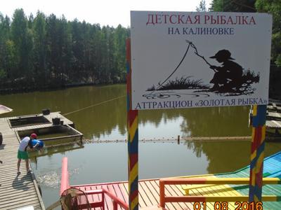 Детская рыбалка на калиновке