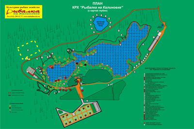 Карта Расположения беседок на Калиновке